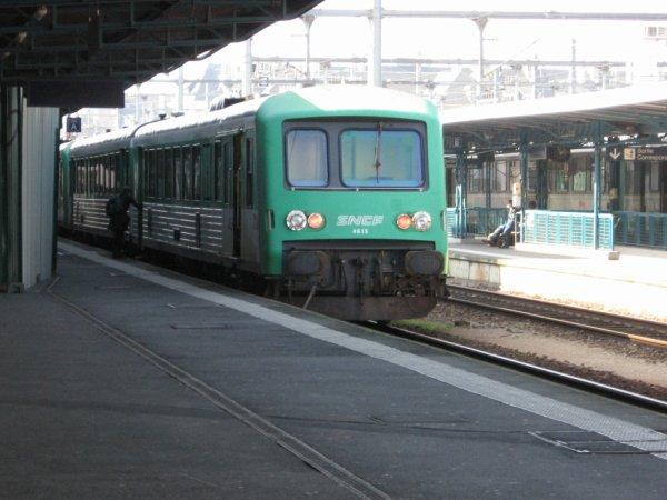 Autorail X4500 à Caen le 6 octobre 2007