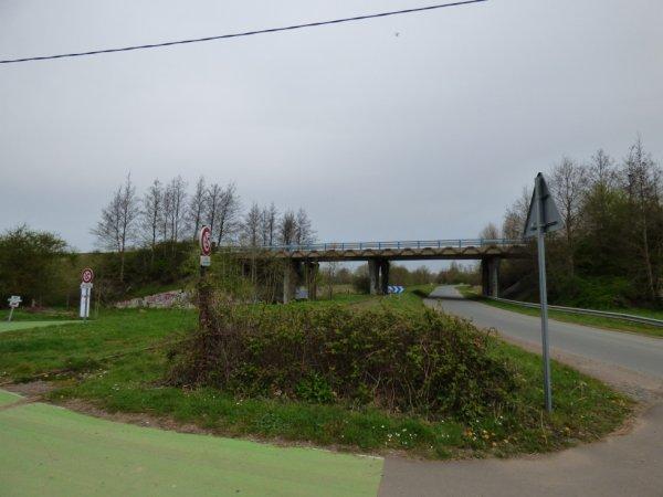 Passage de la ligne Caen Flers sous le périph de Caen à Fleury-sur-Orne