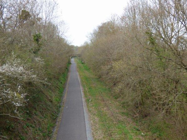 Voie verte parallèle à la ligne Caen Flers à Saint-André