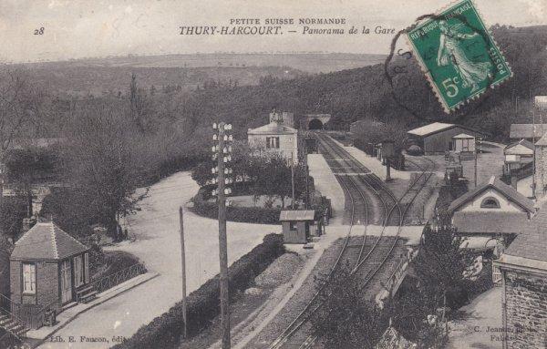 Gare de Thury Harcourt en carte postale