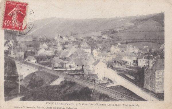 Voie ferrée à Pont Erambourg en Carte Postale