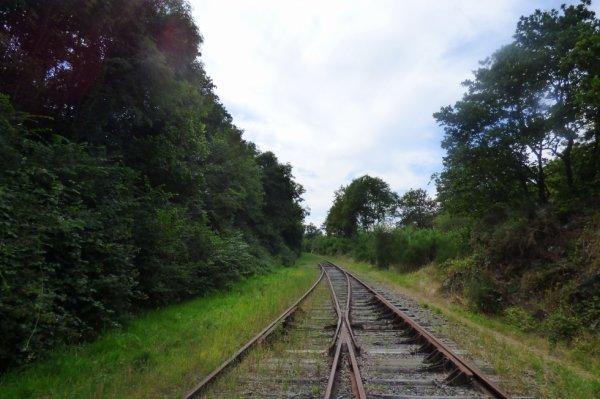 Aiguillage de sortie de la gare de Pont-Erambourg