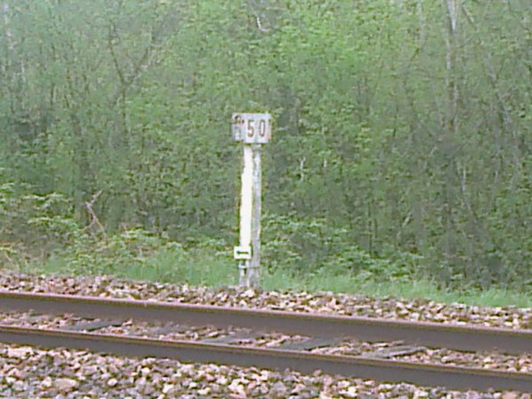 Point Kilométrique 50 de la ligne d'Argentan à Granville