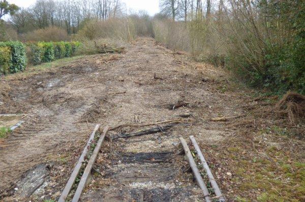 Lonlay le Tesson - Voie ferrée démontée vers Bagnoles