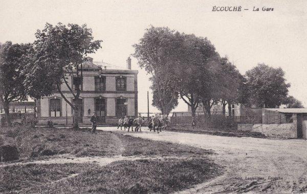 Gare d'Ecouché en carte postale