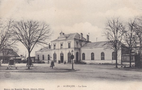 Gare d'Alençon en carte postale