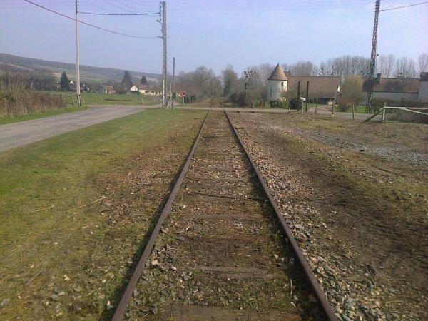 Voies à La-Croix-Saint-Leuffroy vers Pacy-sur-Eure