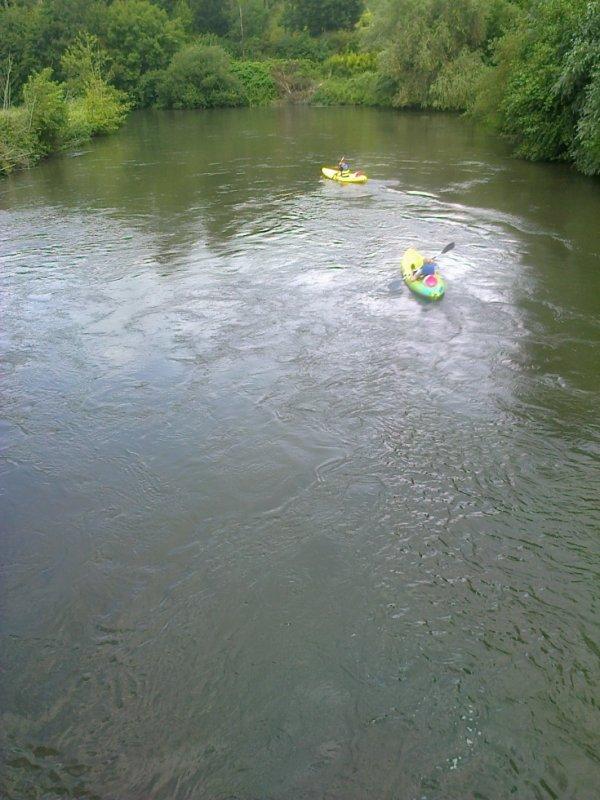 Kayak sur l'Eure à Cocherel