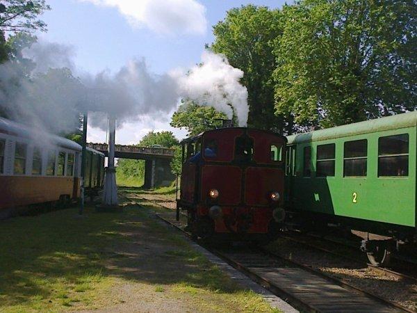 Locomotive Cockerill en gare de Pacy sur Eure