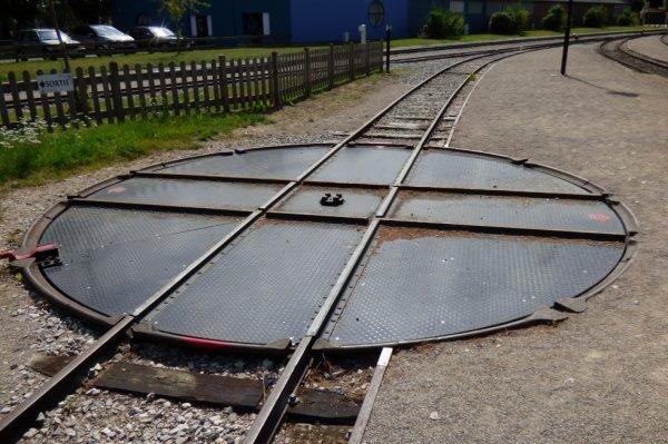 Plaque de retournement de la gare Saint-Valéry-sur-Somme Ville