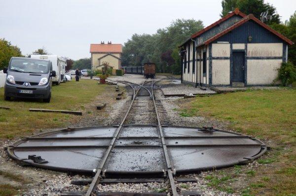 Plaque de retournement de la gare du Crotoy
