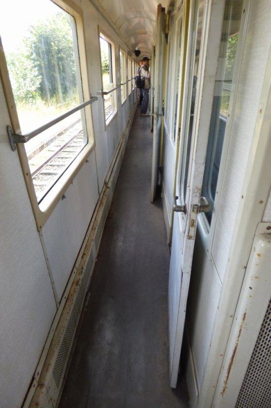 Couloir de la voiture à compartiments du CFTVA