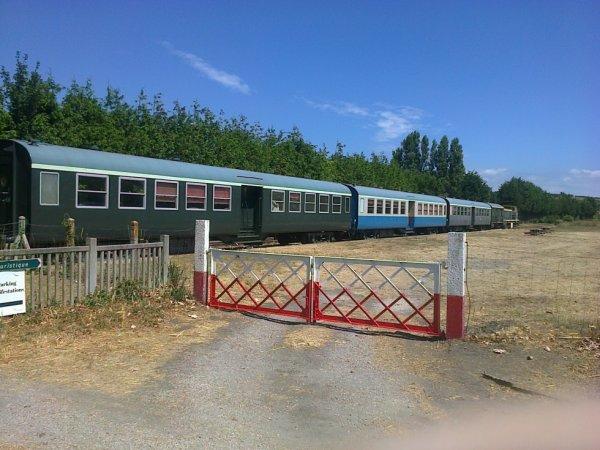 Rame du Train Touristique du Cotentin à Carteret
