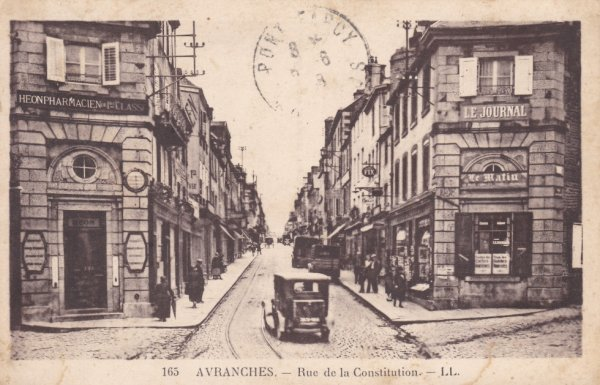 Ancienne voie de tramway à Avranches