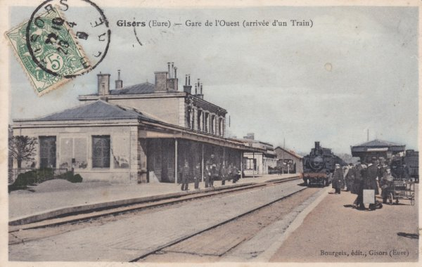 Gare de Gisors en carte postale