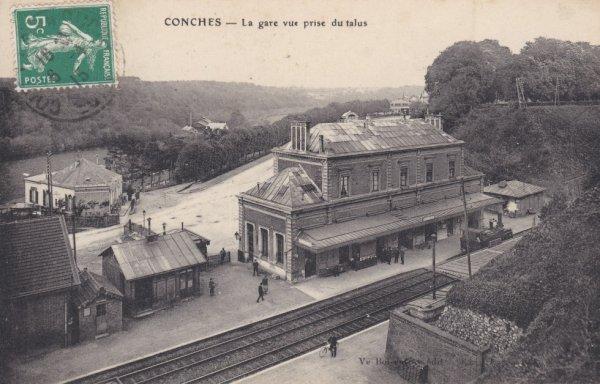 Panorama de la gare de Conches
