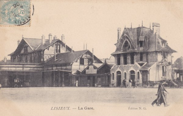 Gare de Lisieux en carte postale