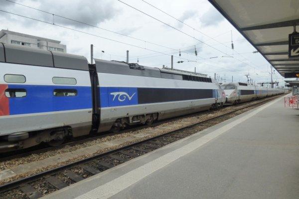 TGV Atlantique en UM2 en gare de Rennes