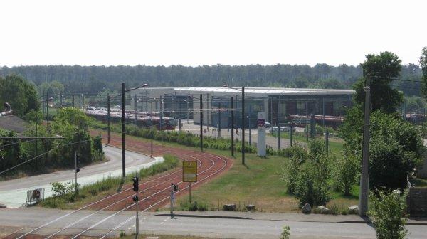 Le Mans - vue sur le dépot du tram