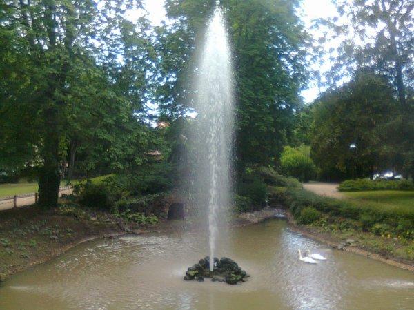 Une fontaine geizer à Riom (63)
