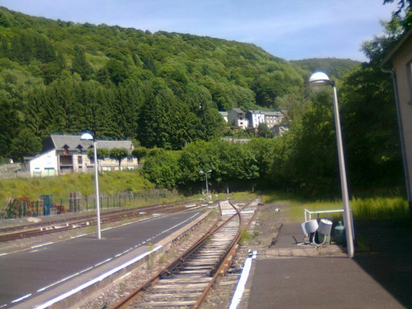 Voies terminales de la gare du Mont Dore