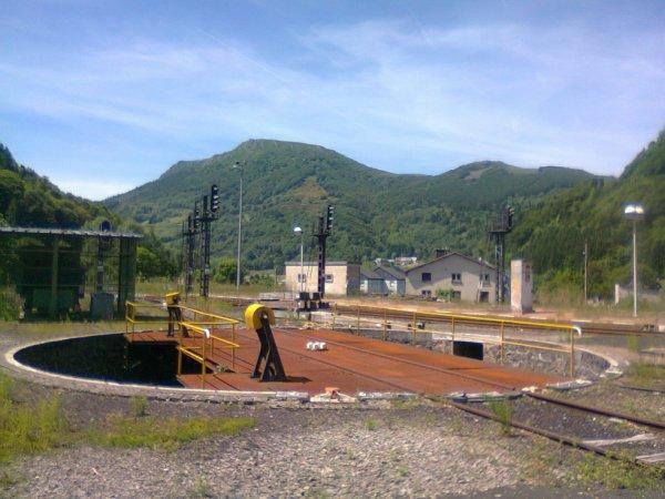 Plaque tournante de la gare du Mont Dore