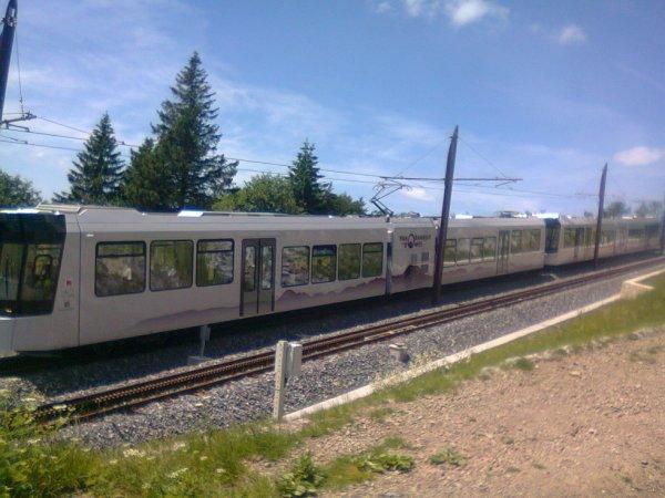 Le tramway à crémaillère du Puy de Dome