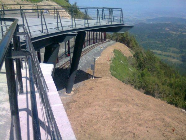 Vers la gare sous-terraine du Puy de Dome