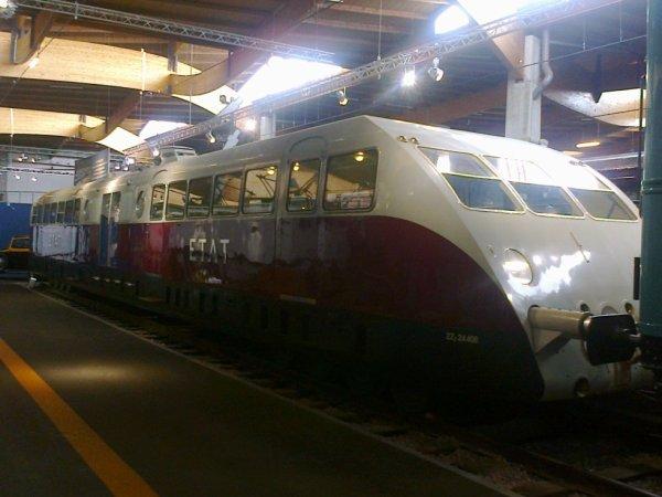 Cité du Train à Mulhouse - Autorail Bugatti de la compagnie de l'Etat