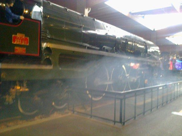Cité du Train à Mulhouse - Locomotive à vapeur type 232 en démonstration