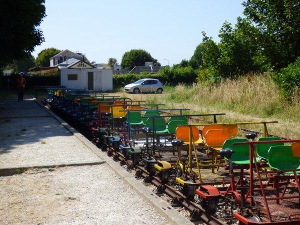Retour des vélorails au terminus à Etretat