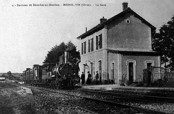 Gare de Menil Vin (61) en activité