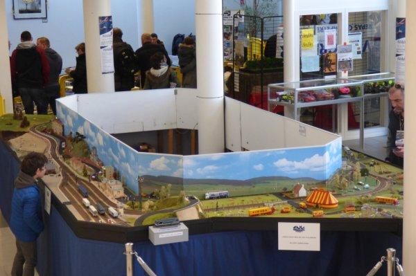Exposition de trains miniatures à Villers-sur-Mer 2019 - Evocation circulaire de la ligne de Dives-Cabourg à Trouville-Deauville