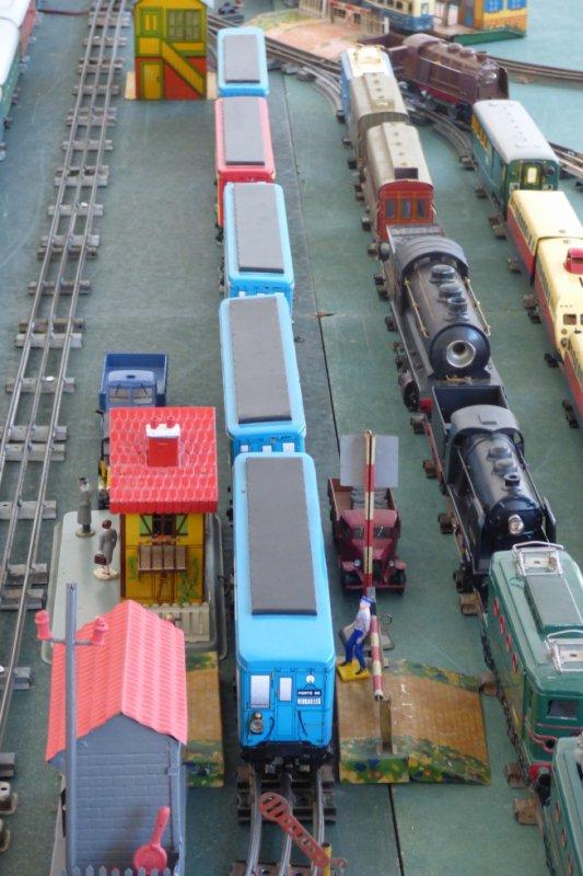 Exposition de trains miniatures à Villers-sur-Mer 2019 - Rame du métro de Paris en train jouet