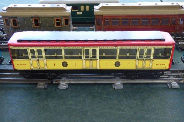 Exposition de trains miniatures à Villers-sur-Mer 2019 - Voiture du métro de Paris Compagnie Nord Sud en Train jouet