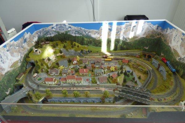 Exposition de trains miniatures à Villers-sur-Mer 2019 - Module à deux échelles