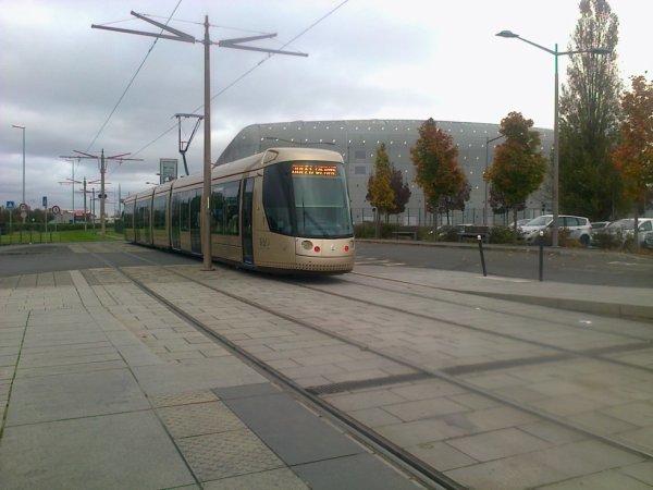 Tramway d'Orléans au Parc des Expos en 2014
