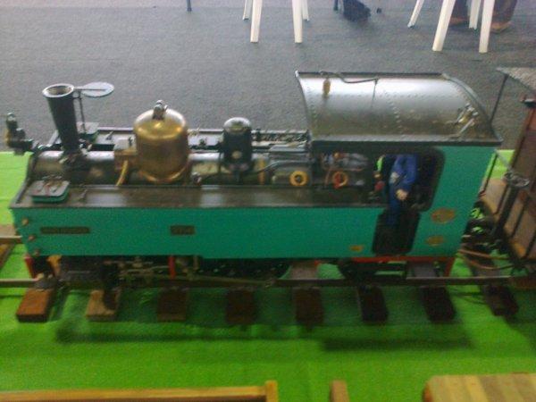 Reconstitution de la locomotive 3714 du Chemin de Fer de la Baie de Somme à Val de Rueil en 2018