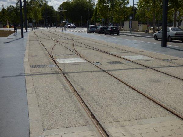 Aiguillages de la station terminus Caen Presqu'ile