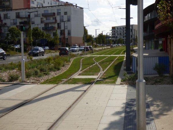 Aiguillages de la nouvelle station terminus Hérouville Saint-Clair