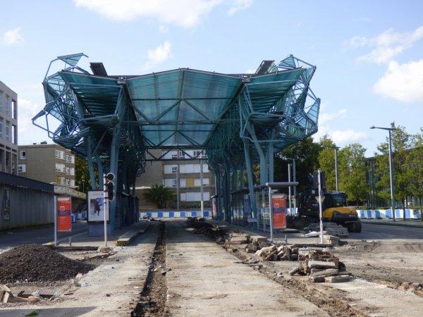 Ancienne station terminus Hérouville Saint-Clair le 19 août 2019
