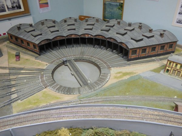 Rotonde du réseau H0 du Rail Miniature Caennais