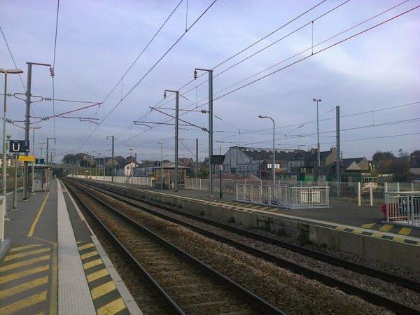 Gare de Lamballe - voies vers Paris