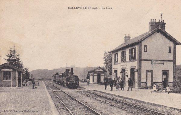 Un train en gare de Calleville