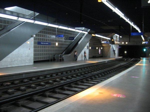 Rouen - Quais de la station de métro Gare Rue Verte