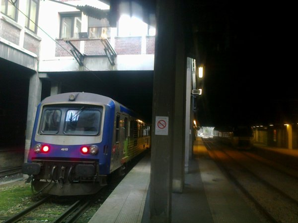 Entre ancienneté et modernité à la gare de Rouen Rive Droite le 4 février 2015