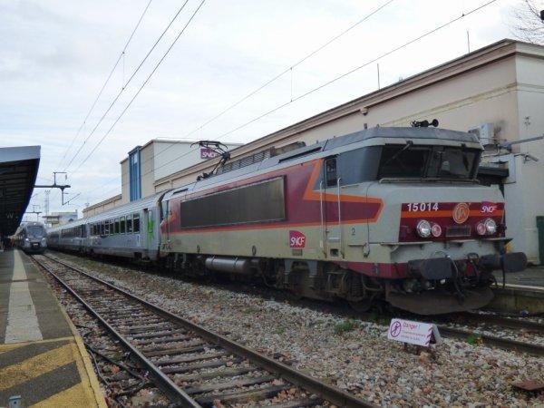 Entre ancienneté et nouveauté à la gare de Caen le 15 février 2020