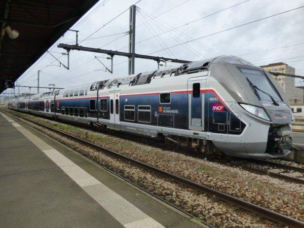 Rame Omneo en gare de Caen le 15 février 2020