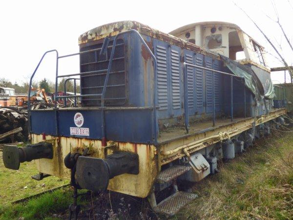 Locomotive diesel militaire 040 DB 0302 stationnée au CFVE