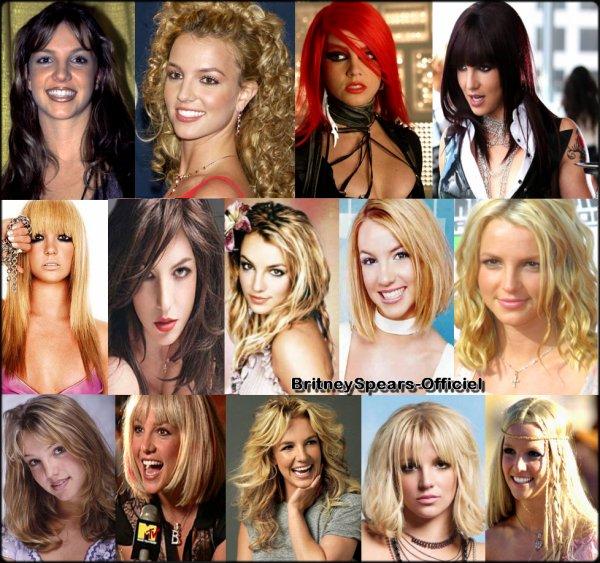 Britney adooore changer de tete et pour cela elle change de coupe de cheveux très souvent. Je vous propose de choisir la coupe de cheveux que vous preferez pour Britney : Blonde brune  rousse  noir  chatain  long, court, bouclé, raide ... A vous de faire votre choix, choisisez votre ou vos coupes favorites.  :) Good Luck'